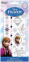 Disney's Frozen Princess Anna Metallic Jewelry Temporary Tattoo Kit