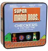 Super Mario Bros Checkers and Tic-Tac-Toe Collector's Edition Board Game
