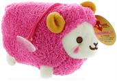 "Prime Plush 6"" Stuffed Animal with Sound Fluffy Sheep Red"