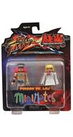 Street Fighter X Tekken Minimates Figure 2 Pack Poison vs Lili