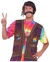60's 70's Fringed Hippie Male Costume Vest Adult