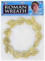 Roman Gold Leaf Wreath Headpiece Costume Accessory