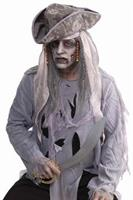 Zombie Pirate Wig Costume Accessory