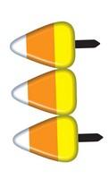 Candy Corn Fence Halloween Prop Decoration 2 Section Set