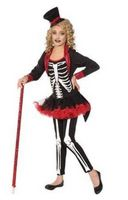 Miss Bone Jangles Skeleton Tutu Costume Child