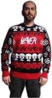 Slayer Pentagram and Skulls Adult Christmas Sweater