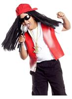Hip Hop Star Costume Hat and Wig Child