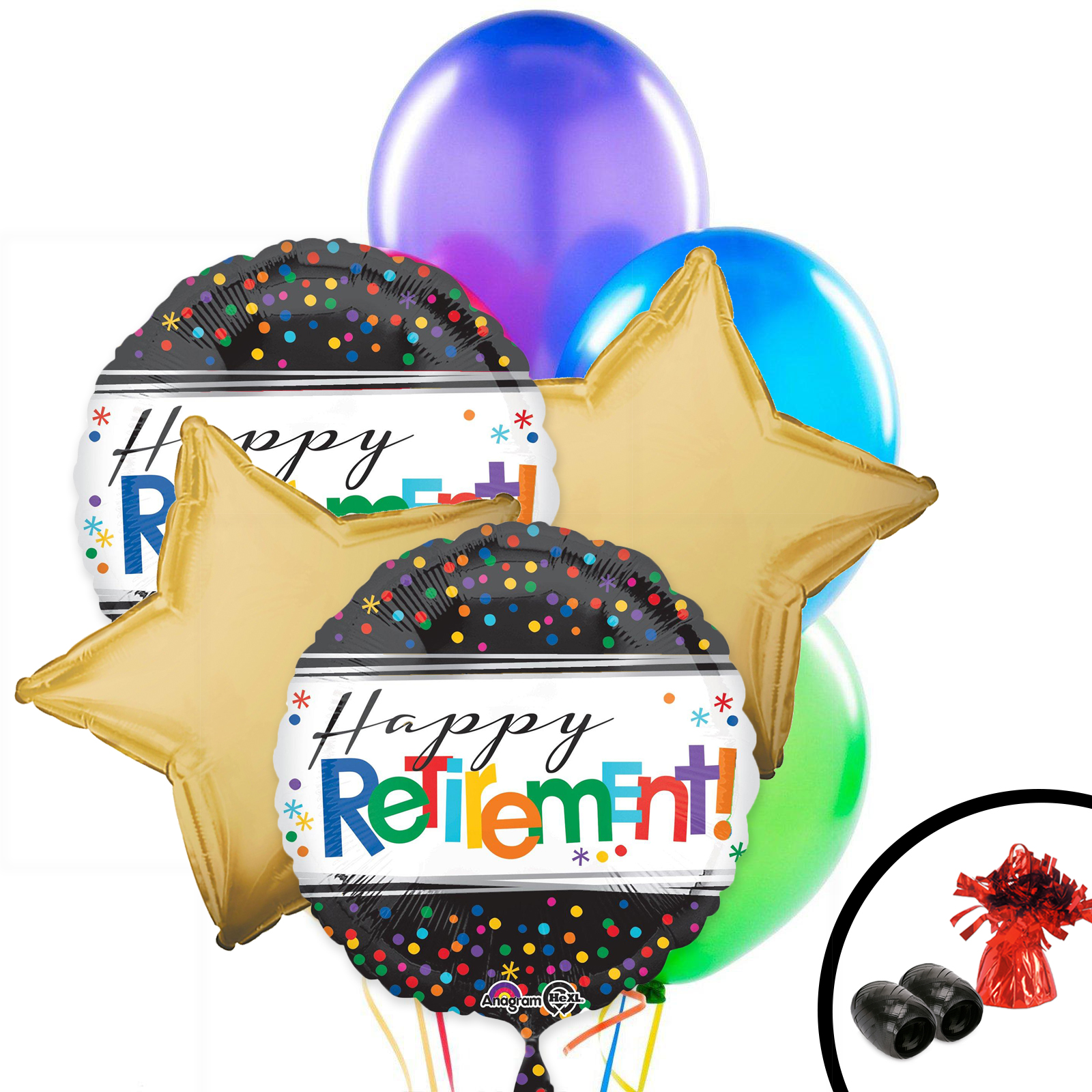 Retirement balloon bouquet partybell