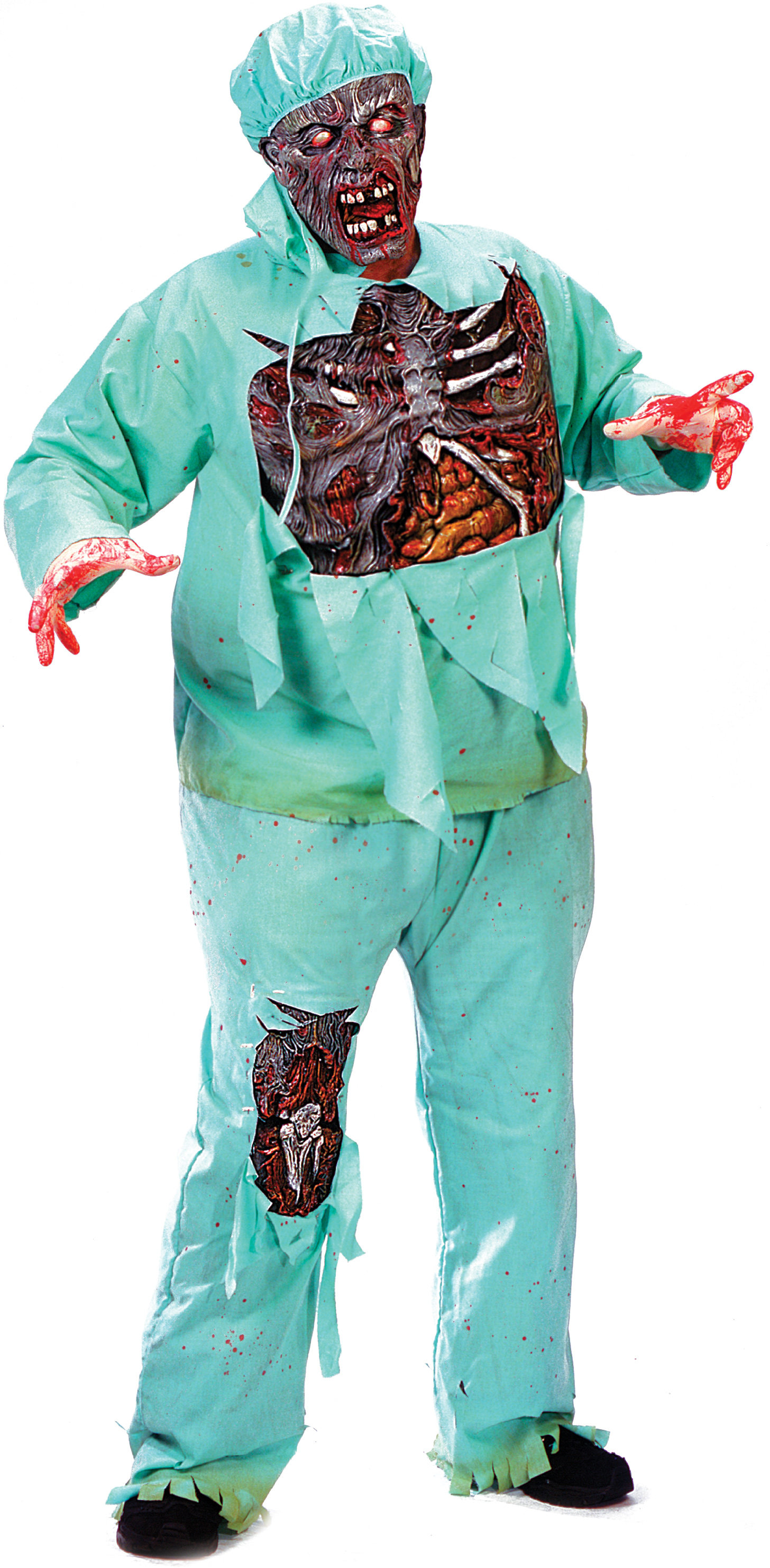 Zombie Doctor Adult Plus Costume - Partybellcom-8171