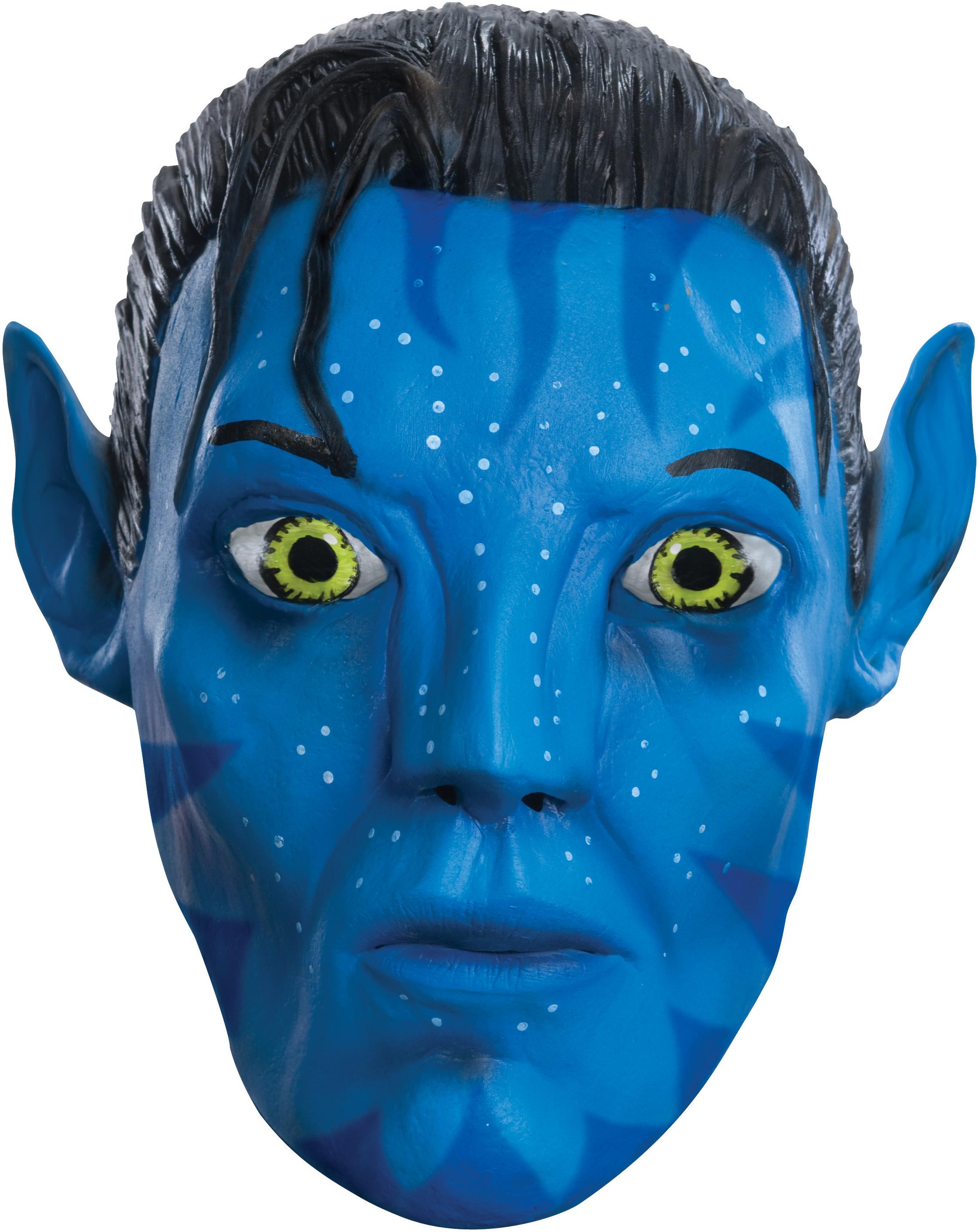 Avatar Movie Jake Sully 34 Vinyl Adult Mask - Partybellcom-2405