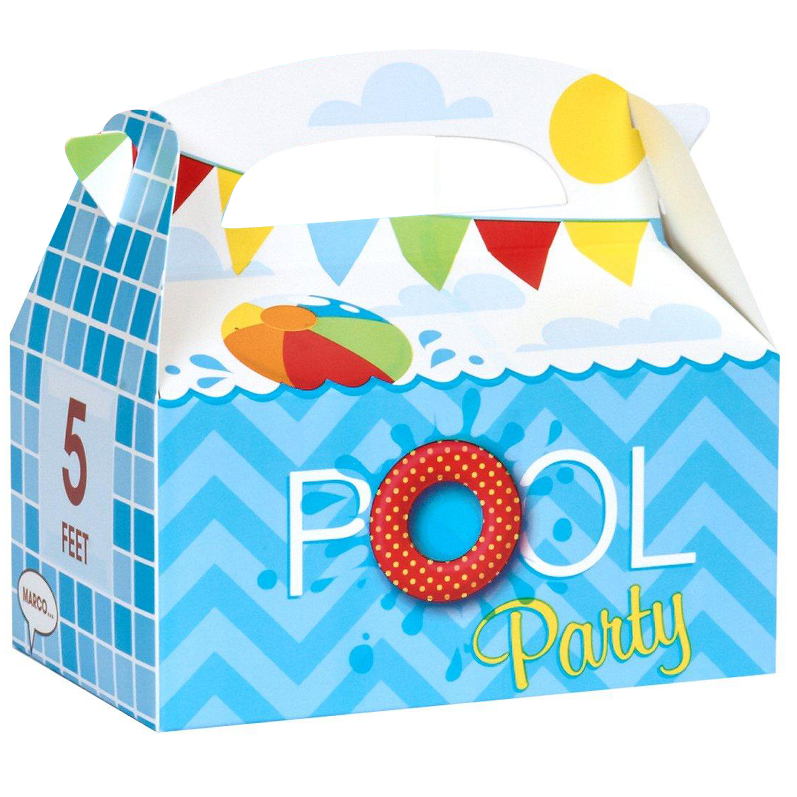 Splashin Pool Party Empty Favor Boxes Partybell Com