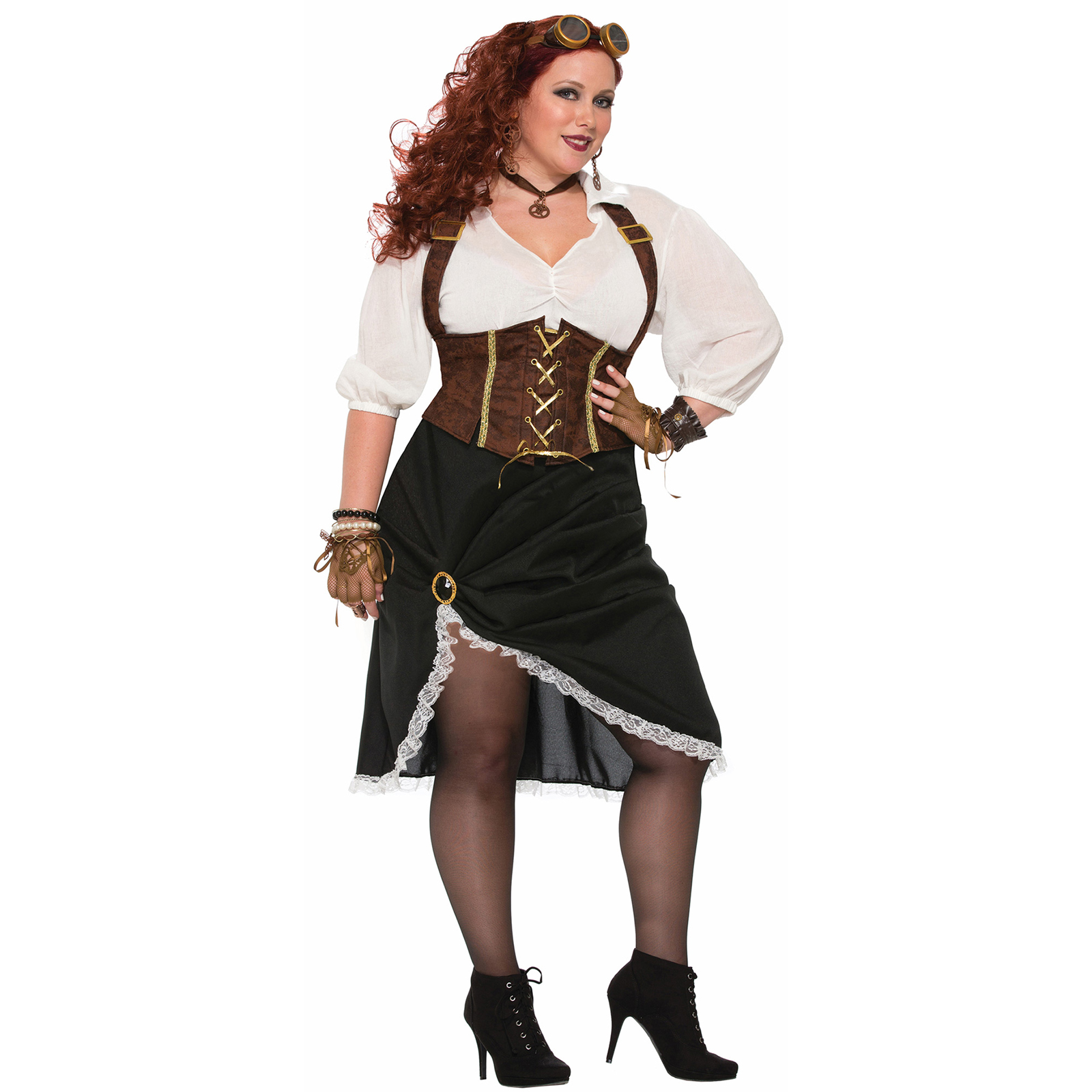 women's curvy steampunk lady costume  partybell